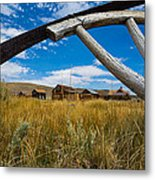 Framed View Of Bodie Ghost Town Metal Print