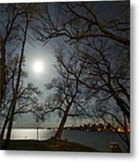 Framing The Moon Metal Print