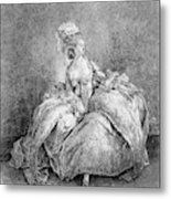 France Court Life, 1778 Metal Print