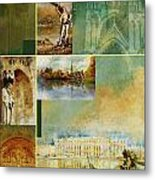 France Unesco World Heritage Poster Metal Print