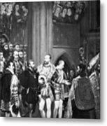 Francis I & Charles V Metal Print