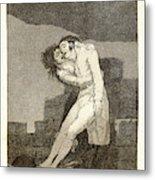 Francisco De Goya Spanish, 1746-1828. El Amor Y La Muerte Metal Print