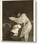 Francisco De Goya Spanish, 1746-1828. Mala Noche. A Bad Metal Print