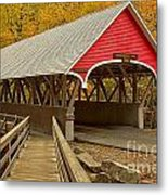 Franconia Notch Flume Gorge Bridge Metal Print