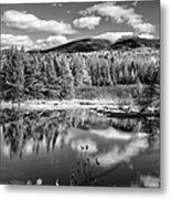 Franconia Ridge Reflection B And W Metal Print
