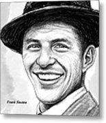 Frank Sinatra Art Drawing Sketch Portrait Metal Print