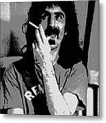 Frank Zappa - Chalk And Charcoal Metal Print by Joann Vitali