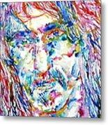 Frank Zappa  Portrait.3 Metal Print