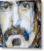Frank Zappa Watercolor Portrait.2 Metal Print