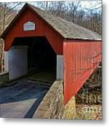 Frankenfield Covered Bridge Metal Print