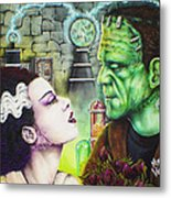 Frankenstein And The Bride Metal Print