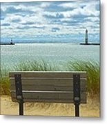 Frankfort Lighthouse Front Row Seats Available Metal Print