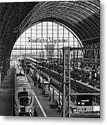 Frankfurt Bahnhof - Train Station Metal Print