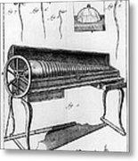 Franklin: Armonica, 1761 Metal Print