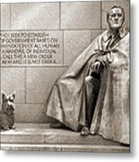Franklin Delano Roosevelt Memorial - Bits And Pieces 7 Metal Print