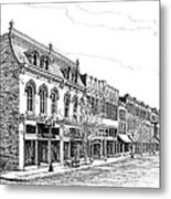Franklin Main Street Metal Print by Janet King