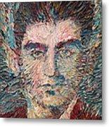 Franz Kafka Oil Portrait Metal Print