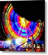 Freak Out ... Electric Rainbow Metal Print