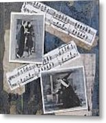 Fred And Ginger Collage Metal Print