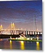 Fred Hartman Bridge From Bayland Marina - Houston Texas Metal Print