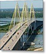 Fred Hartman Bridge Houston Metal Print