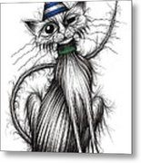 Fred The Cat Metal Print