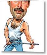 Freddie Mercury Metal Print by Art