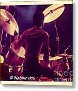 Freddie White Playing Drums Spirit Tour Metal Print