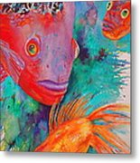 Freddy Fish And Friends Metal Print