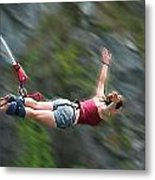 Free As A Bird Bungee Jumping Metal Print