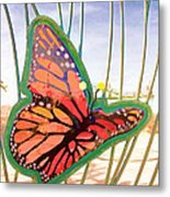Free Butterfly Fly Metal Print
