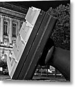 Free Stamp In Black And White Metal Print