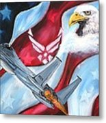 Freedom Eagles Metal Print
