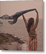Freedom On Top Of A Cliff Metal Print