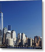Freedom Tower And Lower Manhattan Metal Print