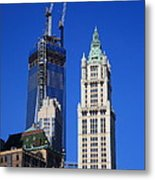 Freedom Tower And Woolworth Building Metal Print