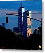 Freedom Tower New York Ny At Dusk Metal Print
