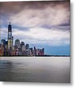 Freedom Tower Over The Hudson Metal Print