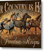 Freedon Reigns Metal Print