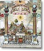 Freemason Emblematic Chart Metal Print