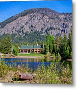 Freestone Inn Lakeside View Metal Print