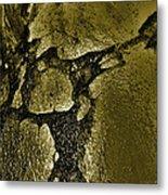 Freeway Pole Art Sailor-pole Art Photo Series Black Gold Metal Print