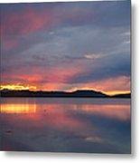 Freezeout Lake Sunset Metal Print