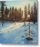 Freezing Forest Metal Print