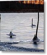 Freezing Lake Metal Print