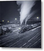 Freight Train About To Leave The Atchison Circa 1943 Metal Print
