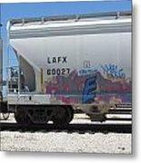 Freight Train Graffiti 7 Metal Print