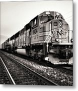 Freight Train Metal Print by Tom Druin