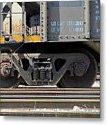 Freight Train Wheels 1 Metal Print