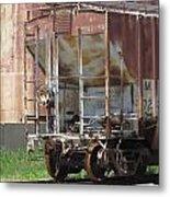 Freight Train Wheels 12 Metal Print